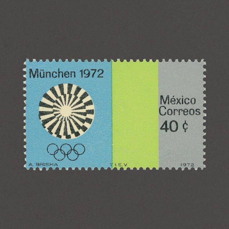 Munich Summer Olympic Games. Mexico, 1972. Design: A. Brisha. #graphilately #mnh #graphiMexico