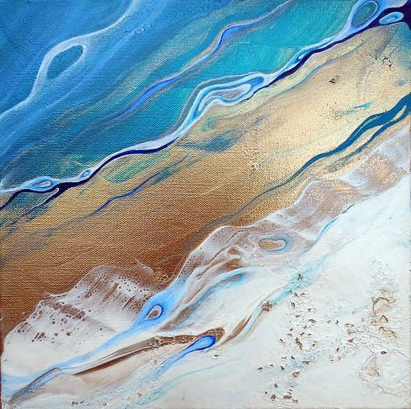 healing waters ocean beach contemporary abstract single diptych or triptych paintings art set