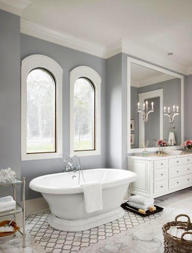 MAT BORDER ON FLOOR Gray Bathroom