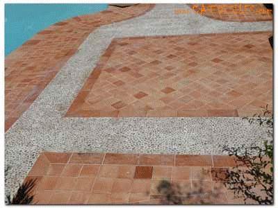 Les 25 meilleures id es de la cat gorie carreaux de galets for Carrelage exterieur terrasse italien