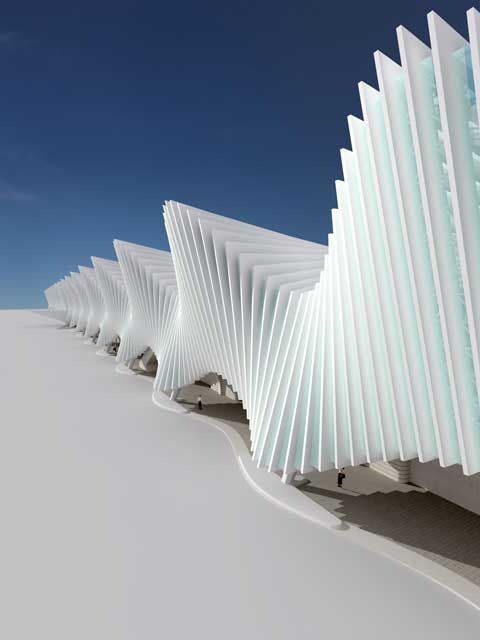 Reggio Emilia Station | Santiago Calatrava, click for more images. Home of Italy's bullet train. amazing inside.