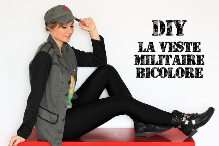 DIY/do it yourself/military jacket/Bensimon/army/La veste militaire bicolore/blogger/artlex