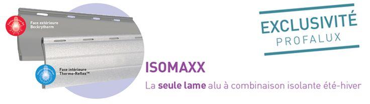 Venez découvrir chez Lorenove ISOMAXX, la seule lame alu à combinaison été-hiver.  La lame aluminium ISOMAXX est spécialement laquée sur sa face intérieure avec un mélange hautement réfléchissant, Thermo-reflex. Sa résistance thermique additionnelle ΔR=0.25m2°K/W est bien au-dessus du standard du ΔR=0.15m2°K/W et est certifiée par le CSTB.