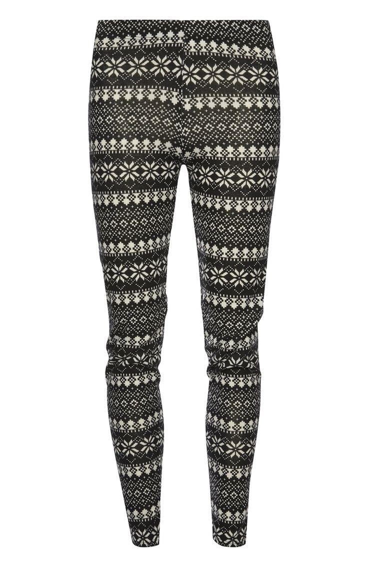Primark - Zwart-witte legging met print