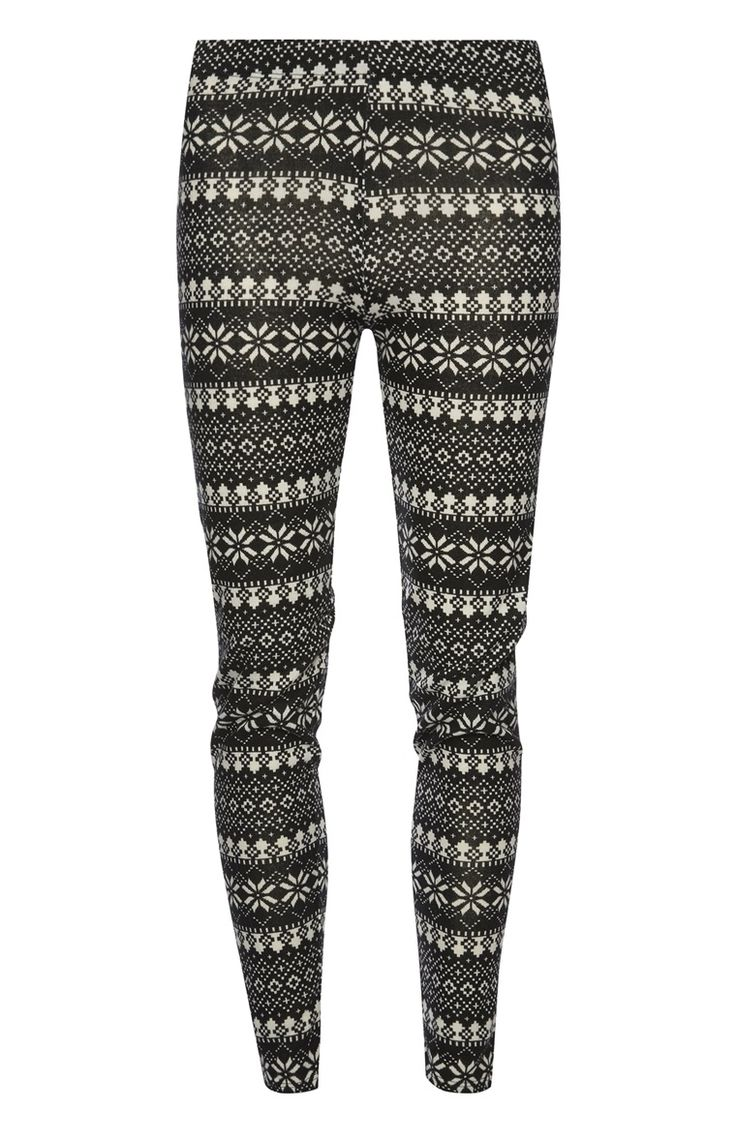Primark - Monochrome Fairisle Leggings