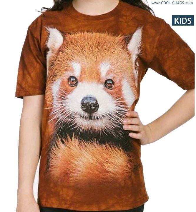 Red Panda T-Shirt //3D RED PANDA TEE,Cool Tie Dye Tee Cool Kid/'s Gift