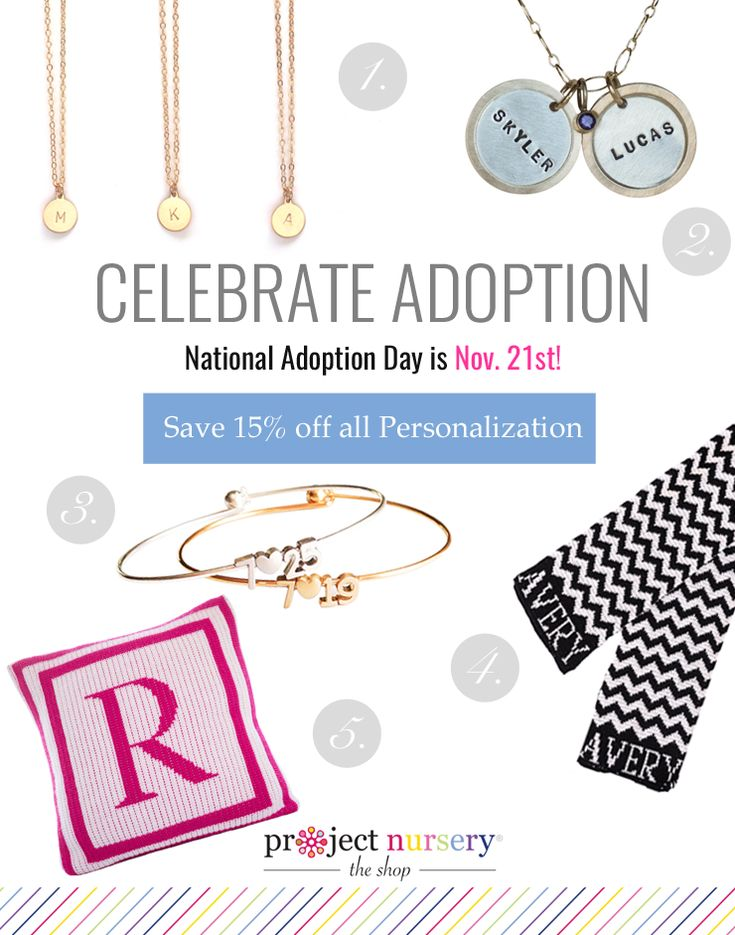 Celebrate National Adoption Day with 15% off all personalized items in #PNshop!