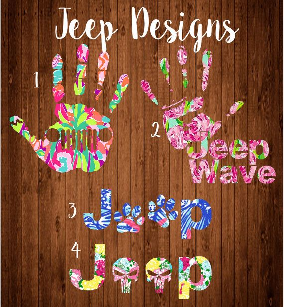 Jeep wave decal Jeep punisher Jeep dog pawLilly by LCDAZZLE