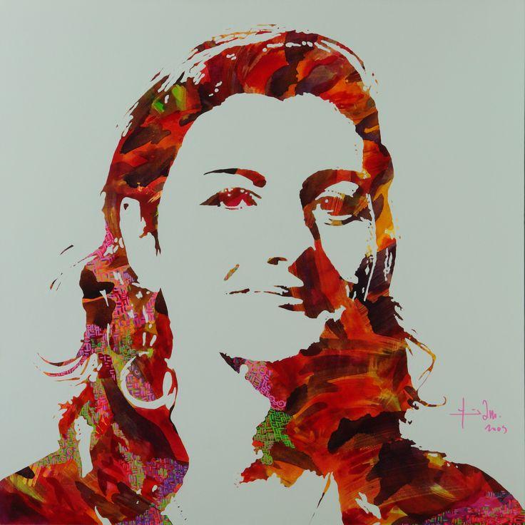 Portrait, acrylic on canvas 100x100cm 2009