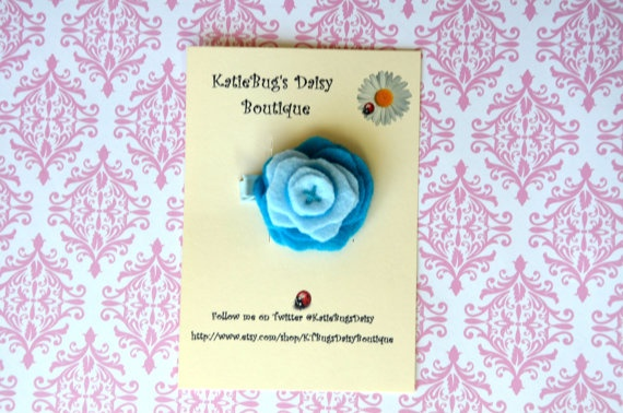 Felt Stacked Flower Hair Clip by KTBugsDaisyBoutique on Etsy, $5.00 ...