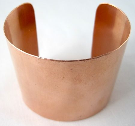 How to make copper cuff bracelet from copper sheet
