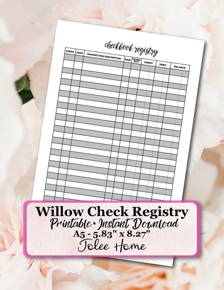 25+ parasta ideaa Pinterestissä Check register Excel budget - printable check register