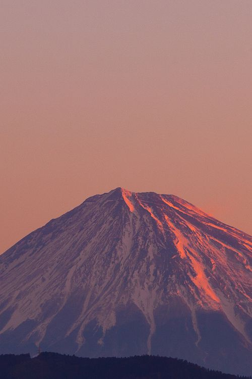 First Light on Fuji San by Raymond De Bui