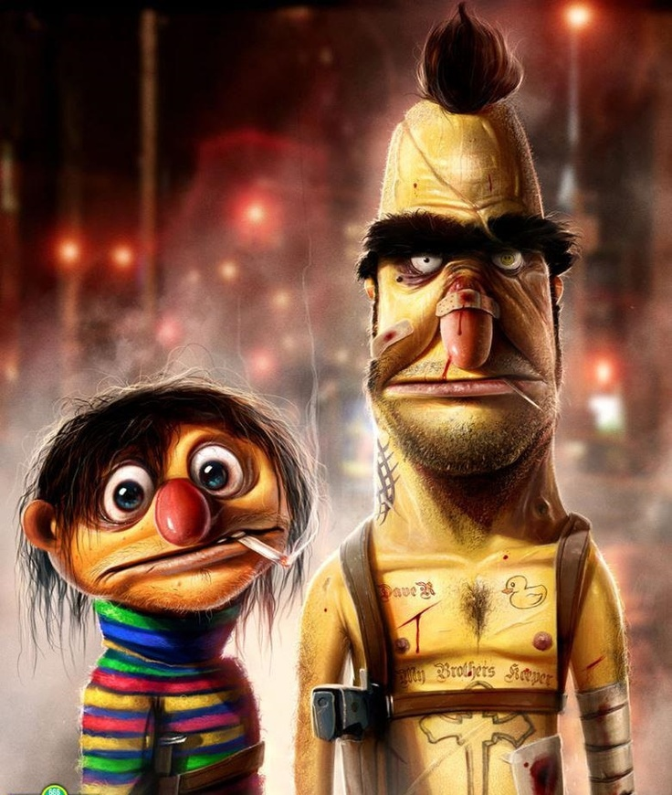 Ernie  & Bert on crack | #fun