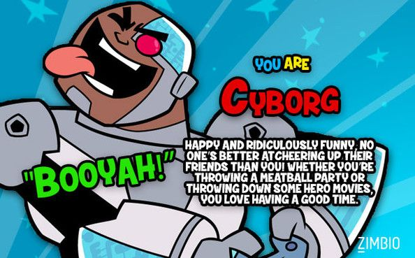 I'm Cyborg! Who would you be on 'Teen Titans Go!'?