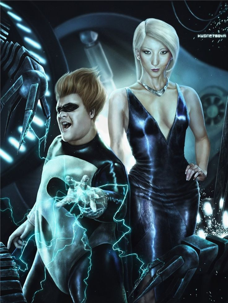 realistic versions of favourite cartoons... Syndrome and Mirage (Incredibles)