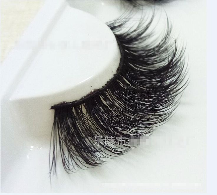 New 1 pair eyelash wholesale 100% real Silk protein eyelashes Handmade crossing lashes individual strip thick lash DLG #Affiliate
