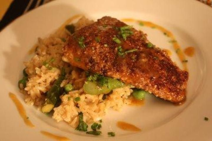 Pecan-Crusted Trout with Orange-Rosemary Butter Sauce Recipe