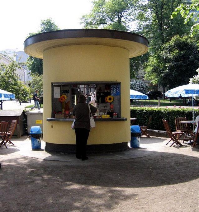 Midcentury kiosk/cafe in Helsinki, Finland