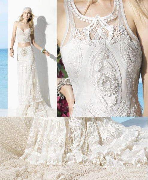 resultado de imagen para vestidos de novia ibicencos yolan cris