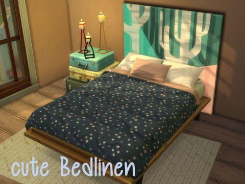 Chillis Sims: Cute Bedlinen • Sims 4 Downloads