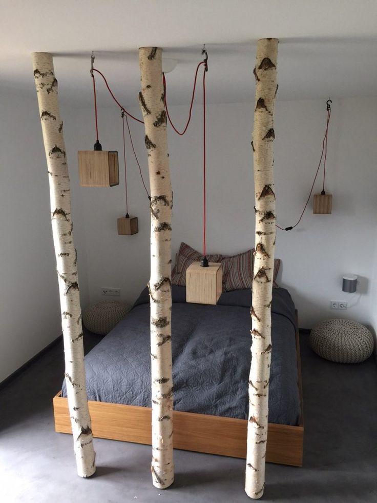 Die besten 25 Birkenstamm deko Ideen auf Pinterest  Birkenstamm Raumteiler selber bauen und