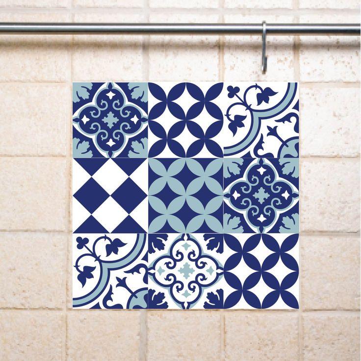 Mix Tile Decals Kitchen/Bathroom Tiles Vinyl Floor Tiles Free Shipping    Design 309 By