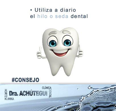 Utiliza a diario el #hilo o #seda #dental.