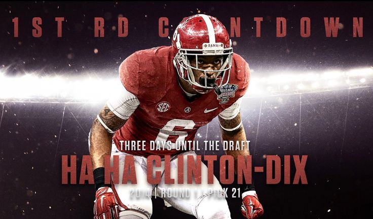 Ha Ha Clinton-Dix, NFL First Round Countdown on Behance - Highlighting Alabama's 1st Round NFL Draft picks under Nick Saban and Alabama's Decade of Dominance #Alabama #RollTide #Bama #BuiltByBama #RTR #CrimsonTide #RammerJammer