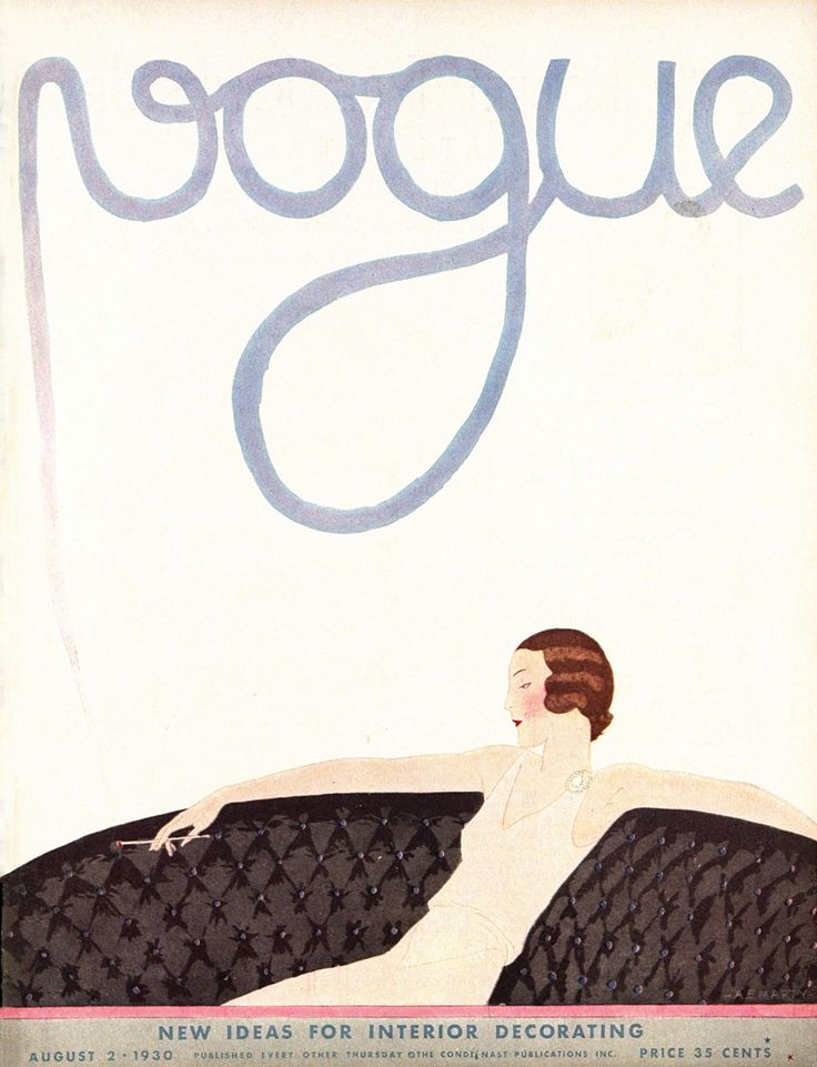 Vogue, August 2, 1930. Illustrated by André E. Marty