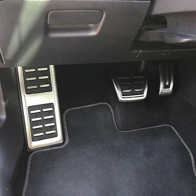 Jameo Auto Car Pedals Foot Fuel Brake Clutch Pedal Covers For Audi A3 8v S3 Rs3 Sportback Cabrio 2012 A3 8v Limousine 2013 Revie Skoda Car Fuel Brake Pedal