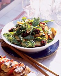 Summer Fruit Salad with Arugula and Almonds Recipe