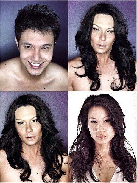 Paolo Ballesteros Makeup Transformation into Lucy Liu