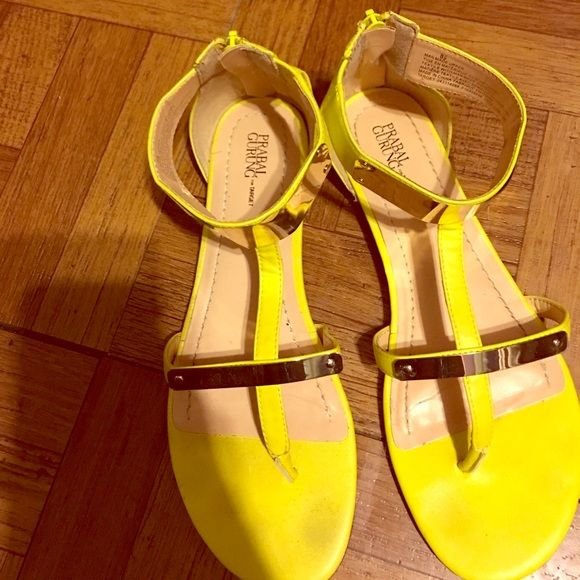 Prabel Gurung for Target Yellow Sandals only worn a couple of times. From a target collaboration with designer Prabel Gurung. Prabal Gurung for Target Shoes Sandals