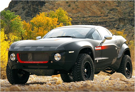couldn't decide between a sports car and an off-road Jeep...'rally fighter'
