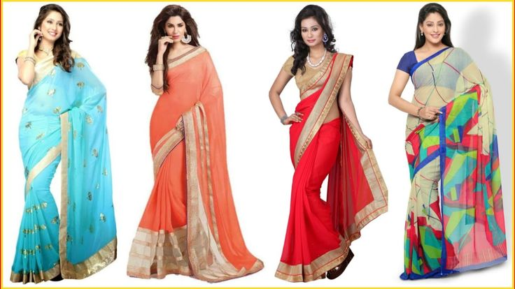 Good Loking georgette sarees    georgette sarees images https://youtu.be/GXjRleX2eRk