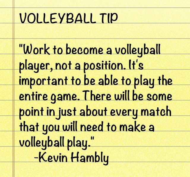 Volleyball tip
