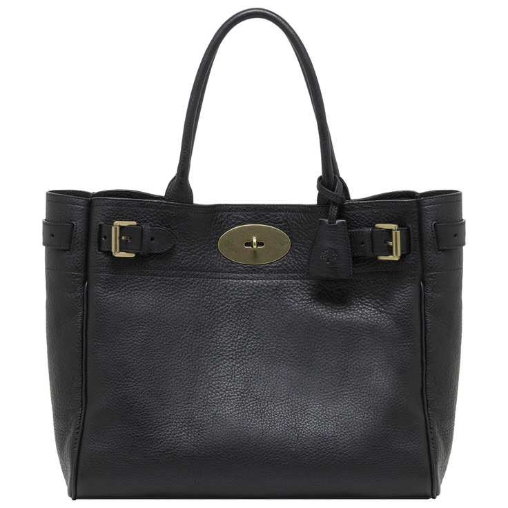 Mulberry - Bayswater Tote in Black Natural Leather