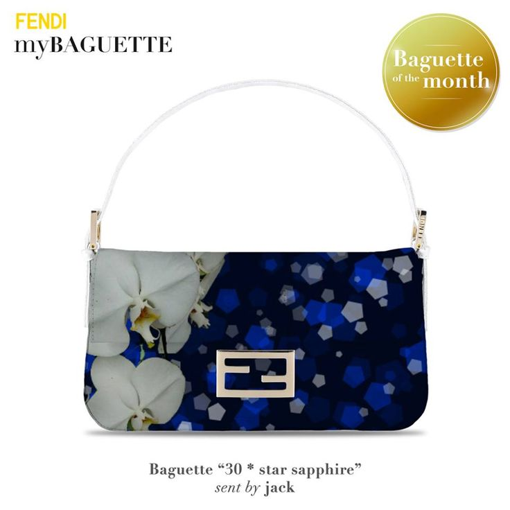 This is the virtual November's Baguette of the Month personally selected by Silvia Venturini Fendi, created with myBaguette tablet app