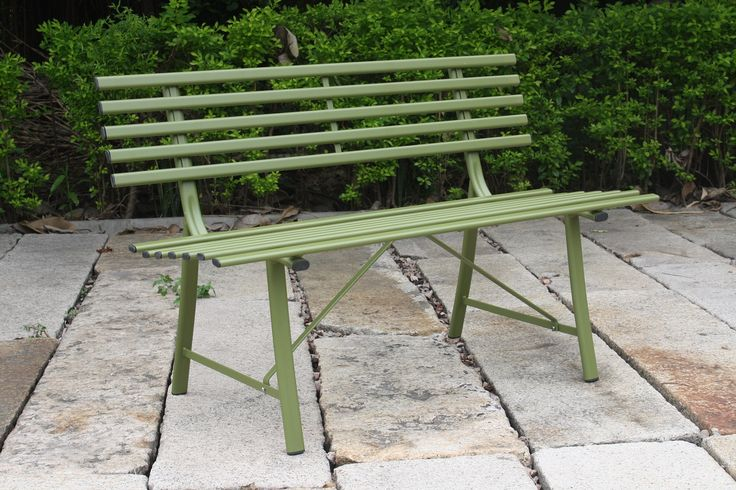 Green Steel Bench