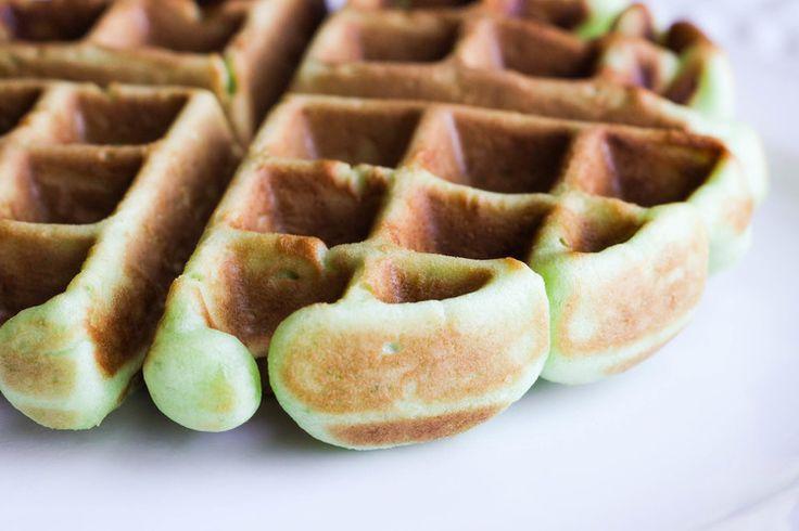 Vietnamese Coconut Pandan Waffles (Banh Kep La Dua)