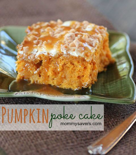 "Pumpkin Poke Cake - Like ""Better than Sex"" cake only with pumpkin.  OMG... So good!"