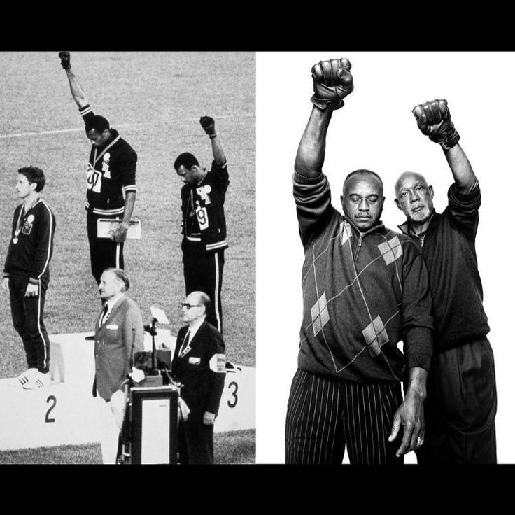 On this day in 1968 this happened at the Olympics. It's critical that we celebrate John Carlos and Tommie Smith for protesting like this while at work. Especially in today's climate where people insist on trying to separate sport from politics. I don't know who won the gold that day. But I do know who won the hearts and minds of the people and the respect of history. ✊✊✊