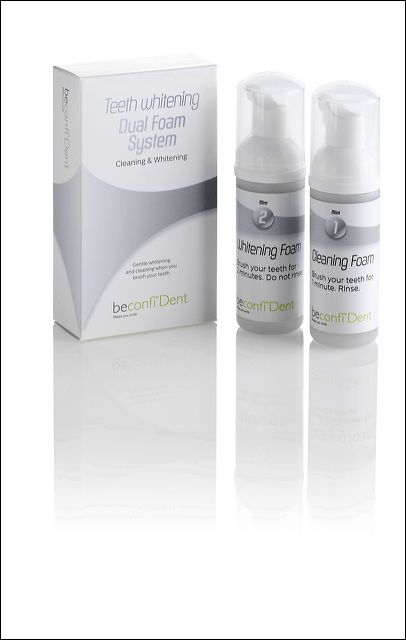 www.beconfident.nl - Dual Foam System from beconfiDent = Natural Teeth Whitening