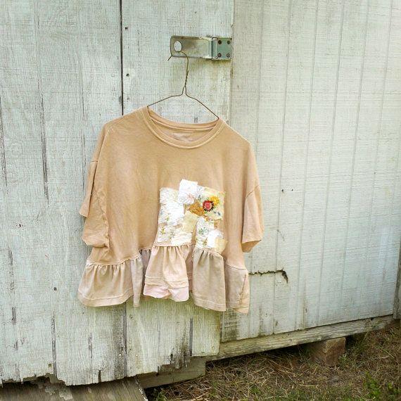 romantic cropped shirt wearable art tshirts by CreoleSha