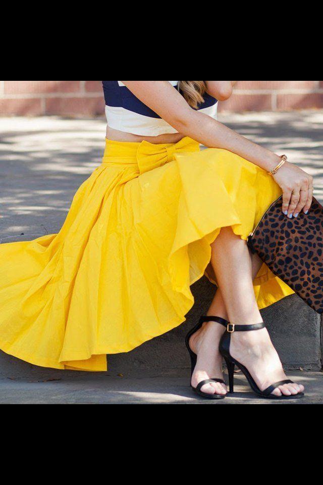 Take a bow skirt