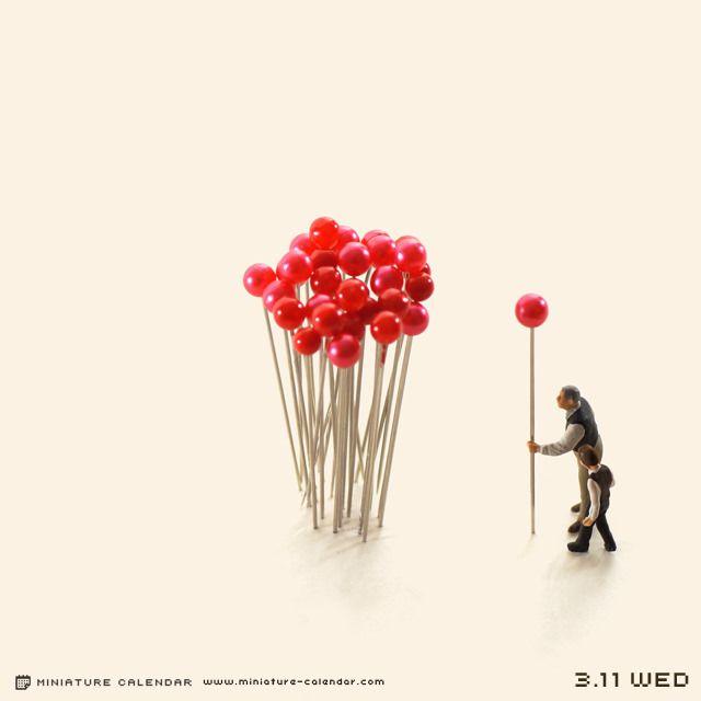 Japan // tanaka tatsuya created a miniature scene everyday for four years!