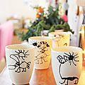Cette année nous avons fait un cadeau personnalisé pour remercier les maîtresses. Un stylo pour porcelaine + des mugs vierges + les...