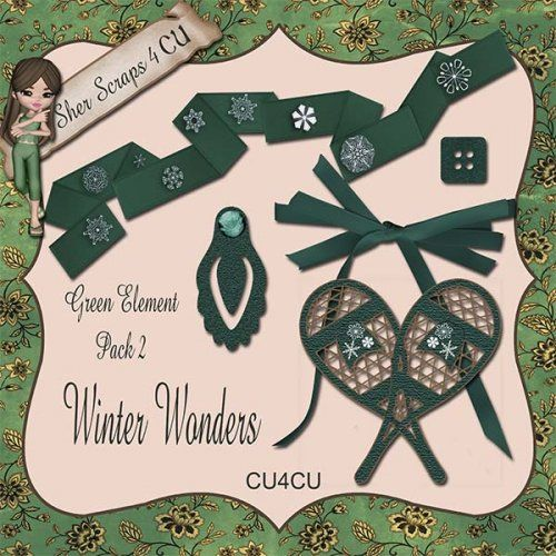 Winter Wonders Green Element Pack