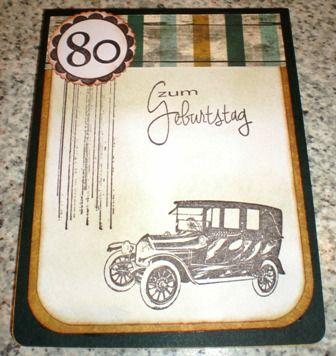 Zum 80ten Geburtstag für einen Briefmarkensammler